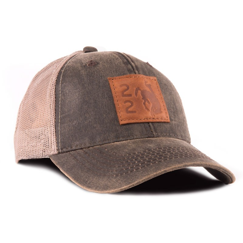 Wyoming 22 Outback Leather Trucker Hat