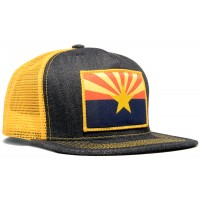 Arizona Flag Made In USA Denim Trucker Hat
