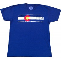 "Colorado Flag Men's ""Dark"" T Heather Navy"