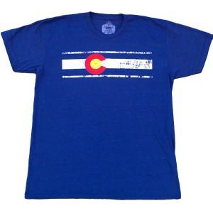"""Colorado Flag Men's """"Dark"""" T Heather Navy"""