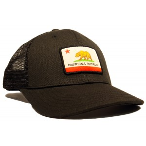 Organic/PET California Flag Trucker Hat