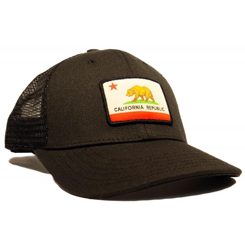 Organic PET California Flag Trucker Hat 43a60f6d5cd5