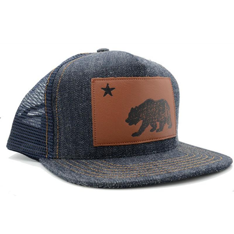 California Bear Denim Trucker Hat