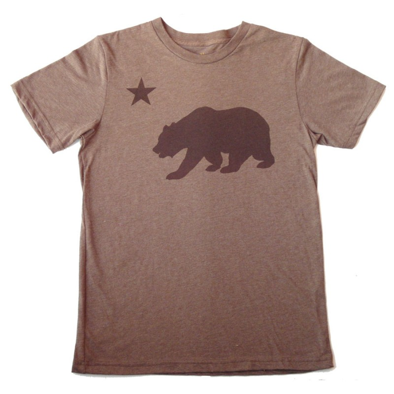men 39 s california bear t shirt. Black Bedroom Furniture Sets. Home Design Ideas