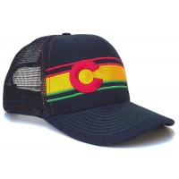 JAHlorado Colorado Rasta Flag Trucker Hat