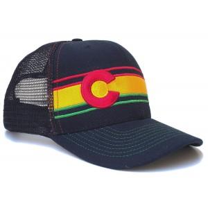 JAHlorado Colorado Rasta Flag Trucker Hat