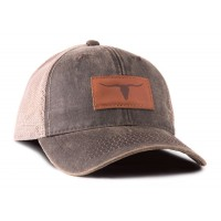 Longhorn Outback Leather Trucker Hat