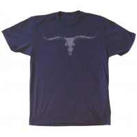 Longhorn Skull Men's T-Shirt Indigo Blue