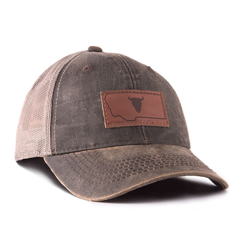 Montana Outback Leather Trucker Hat