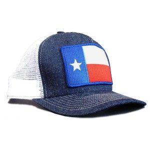 Texas Flag Made in USA Denim Trucker Hat