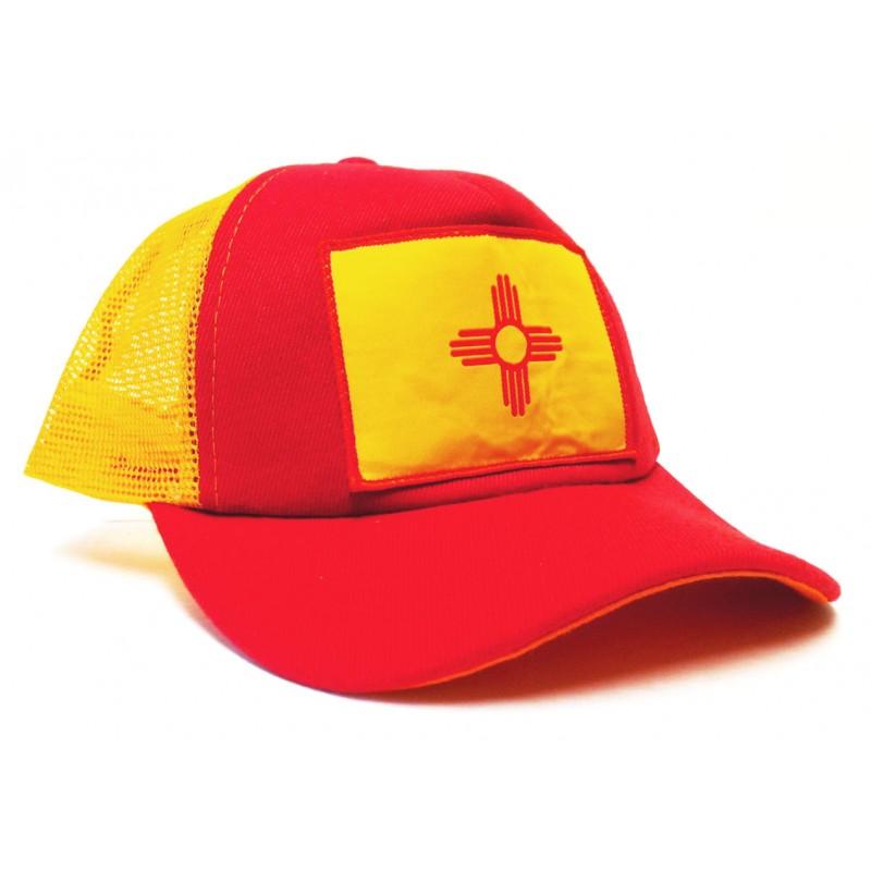 New Mexico Flag Zia Trucker Hat