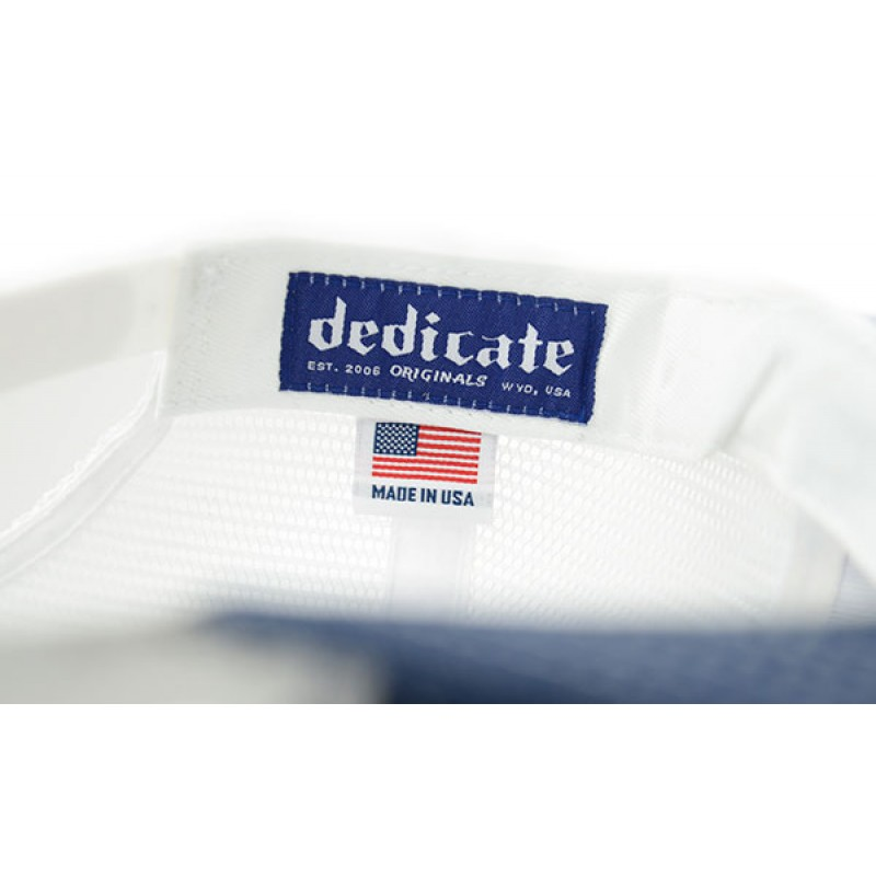 Wyoming Flag Denim Made in USA Trucker Hat
